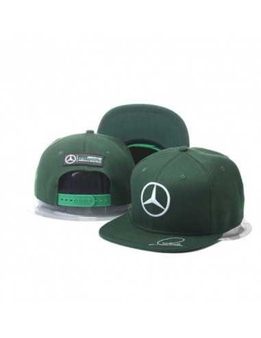 "Кепка рэперка \\""Mersedes Petronas F1\\"" зелёная"