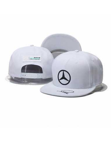 "Кепка рэперка  ""Mersedes Petronas F1"" белая"