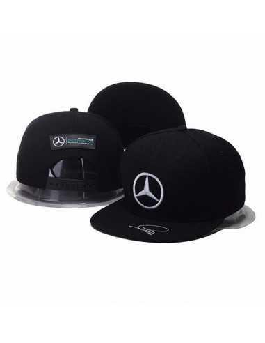 """Кепка рэперка \\""""Mersedes Petronas F1\\"""" чёрная классическая"""