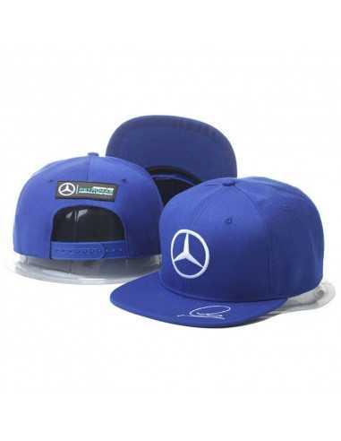 "Кепка рэперка  ""Mersedes Petronas F1"" синяя"