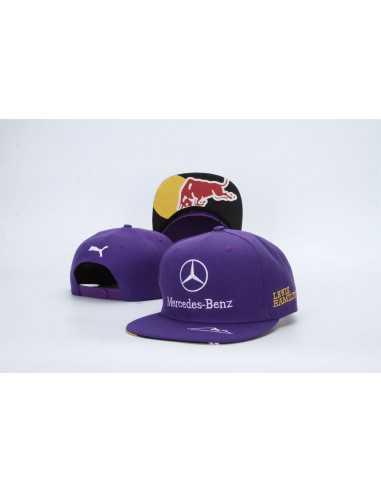 "Кепка рэперка \\""Mersedes Petronas F1\\"" фиолетовая"