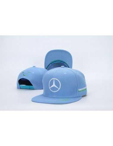 """Кепка рэперка \\""""Mersedes Petronas F1\\"""" голубая"""