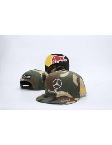 "Кепка рэперка  ""Mersedes Petronas F1"" Милитари Red Bull"