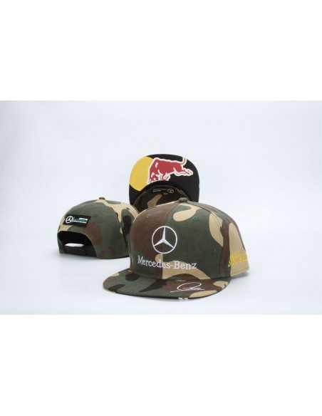 "Кепка рэперка \\""Mersedes Petronas F1\\"" Милитари Red Bull"