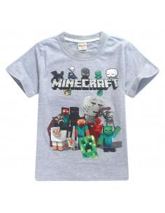 Футболка серая Minecraft Все герои