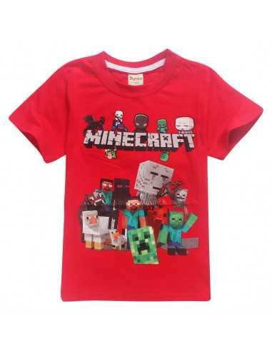 Футболка красная Minecraft Все герои