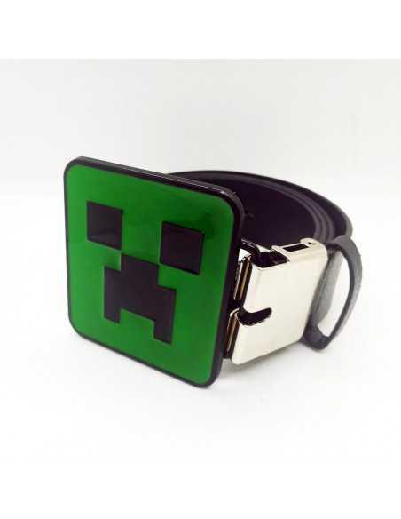 Ремень пояс Minecraft Creeper кожзаменитель черный