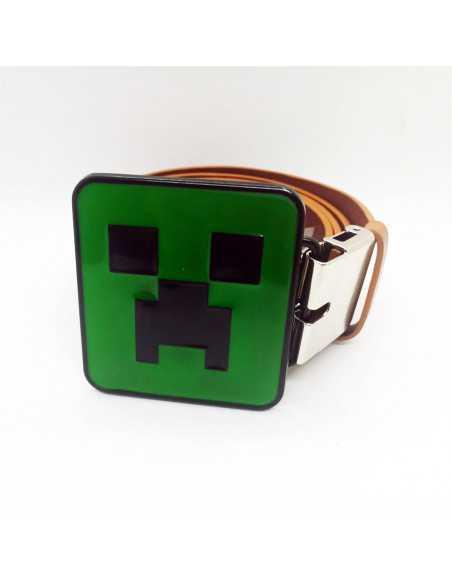 Ремень пояс Minecraft Creeper кожзаменитель коричневый