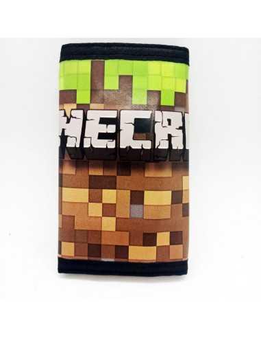"""Тканевый кошелёк  """"Minecraft"""" на липучке"""