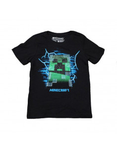 Футболка Minecraft Заряженый Крипер чёрная Оригинал