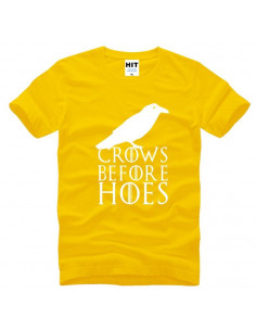 "Футболка \\""Crows Before Hoes\\"" Game of Thrones желтая"