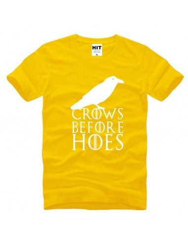 Футболка Crows Before Hoes Game of Thrones желтая