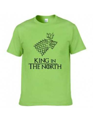 Футболка King in The North Game of Thrones зеленая