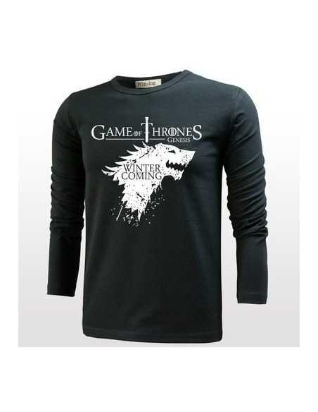 Футболка с длинным рукавом King in The North Game of Thrones чёрная
