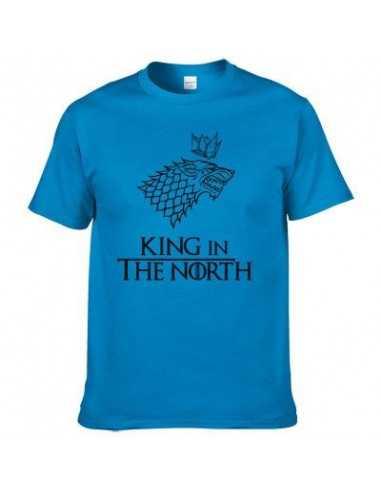 """Футболка """"King in the North"""" Игра Престолов синяя"""