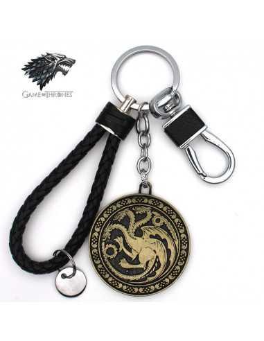 """Кожаный брелок Game of Thrones """"Таргарианы"""" бронза"""