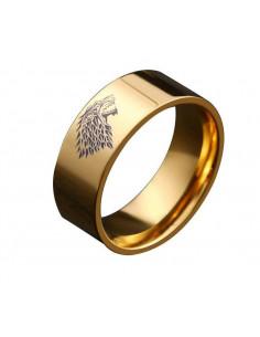 """Кольцо Game of Thrones """"Игра Престолов"""" золотое"""