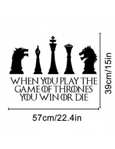 """Настенная наклейка Game of Thrones """"Шахматы"""""""