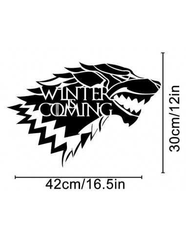 "Настенная наклейка Game of Thrones ""Winter is coming"""