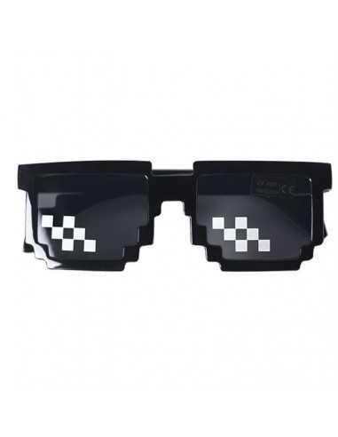 Детские солнцезащитные очки Майнкрафт (Minecraft) чёрные с пикселями