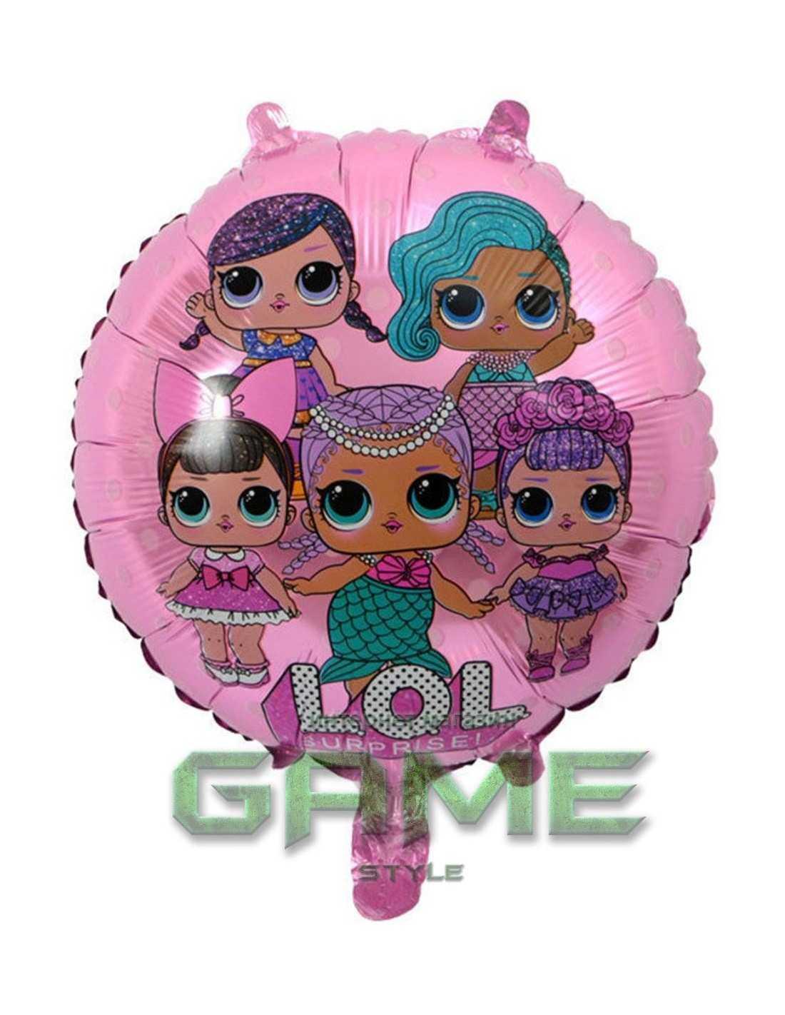 Шар воздушный LOL Surprise фольга розовый