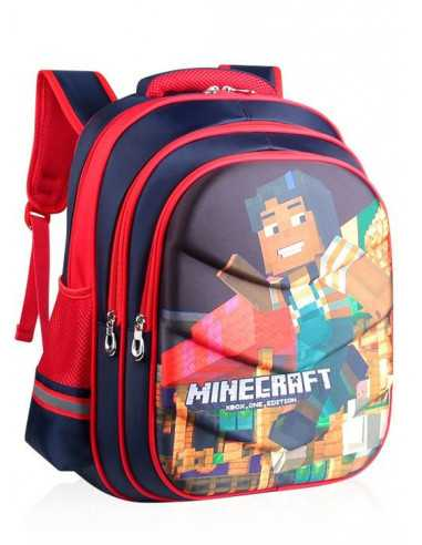 Рюкзак школьный Minecraft ортопедическая спинка красный 42 см