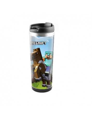 "Терморужка для напитков Minecraft ""Стив на коне""450 мл"