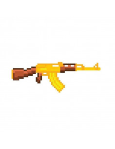 Золотой Автомат Калашникова AK-47 Майнкрафт (Minecraft)