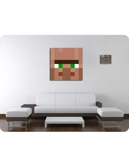 Картина MineCraft Деревенский житель 30x30 см