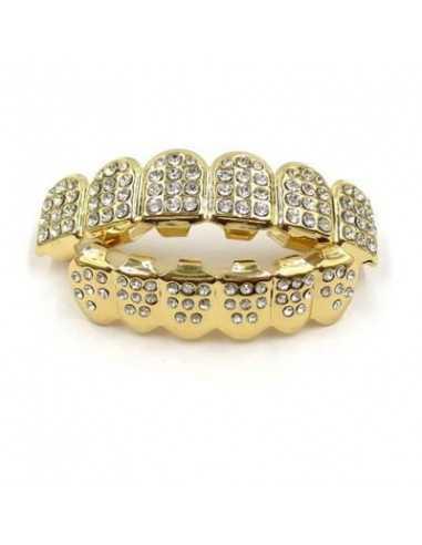 Брекеты грилзы золото и диаманты