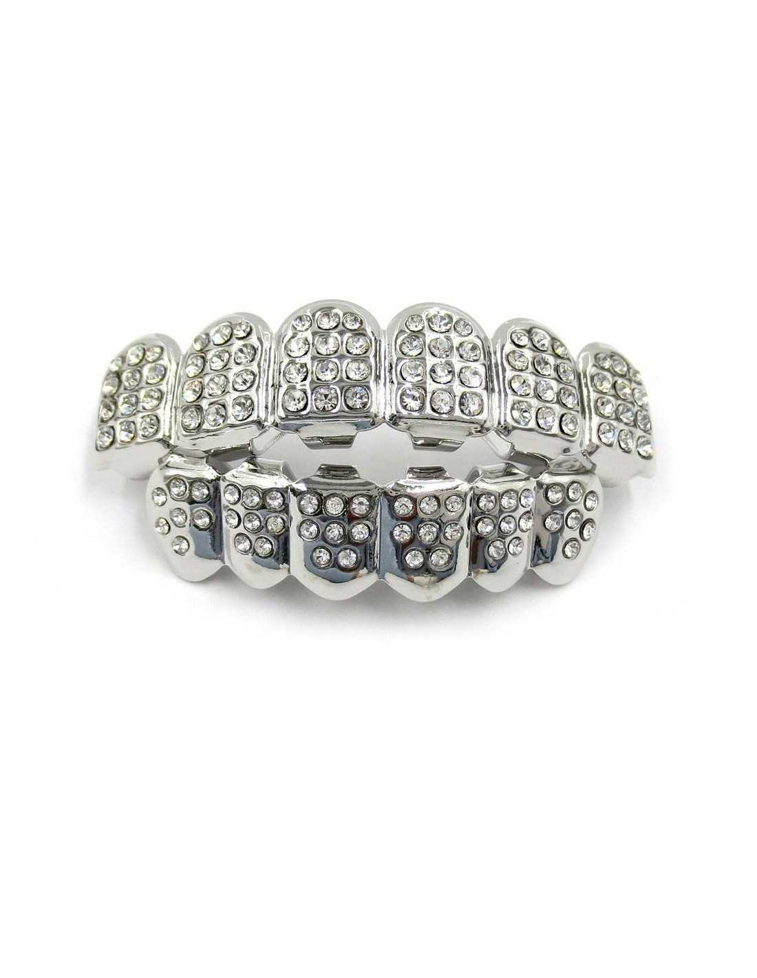 Брекеты грилзы серебро и диаманты