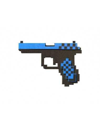 Пистолет Глок Майнкрафт (Minecraft) алмазный