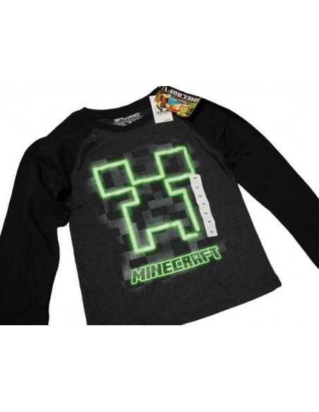 Реглан Крипер Minecraft черный