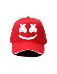 Кепка бейсболка Marshmello красная