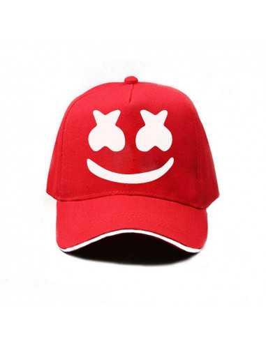 Кепка бейсболка Dj Marshmello красная