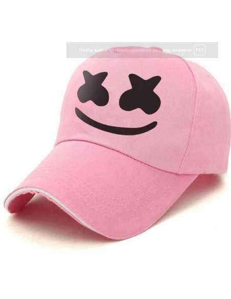 Кепка бейсболка Dj Marshmello розовая