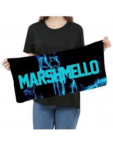 Полотенце Dj Marshmello неоновый силуэт