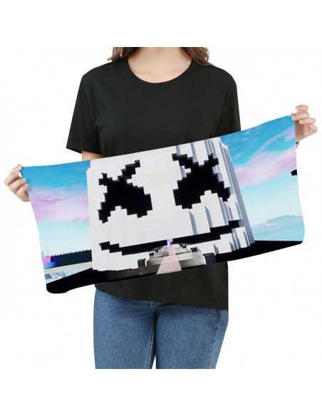 Полотенце Marshmello пиксельное Fortnite Minecraft
