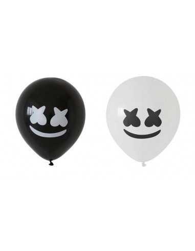 Шарик воздушный Marshmello черный/белый