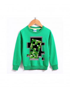 Реглан Крипер Minecraft зеленый