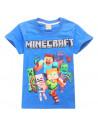 Футболка синяя игры Minecraft Все герои