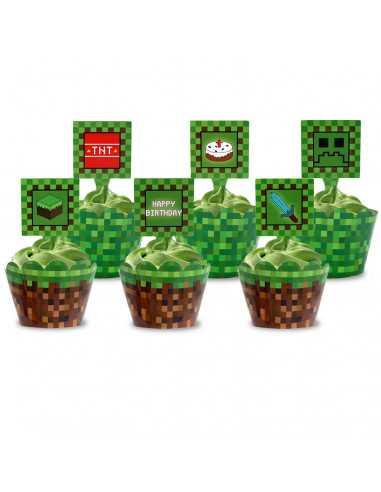 Топперы для капкейков, десертов и кексов фигурные Minecraft