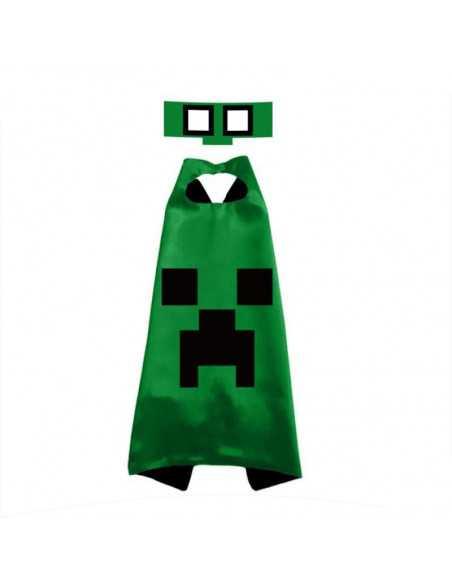 Карнавальный костюм Creeper Minecraft зеленый