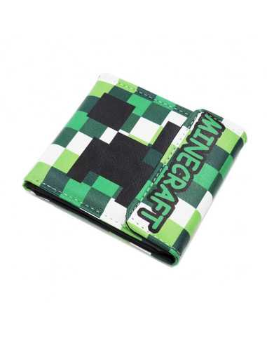 Кошелек Minecraft Creper салатовый на кнопке