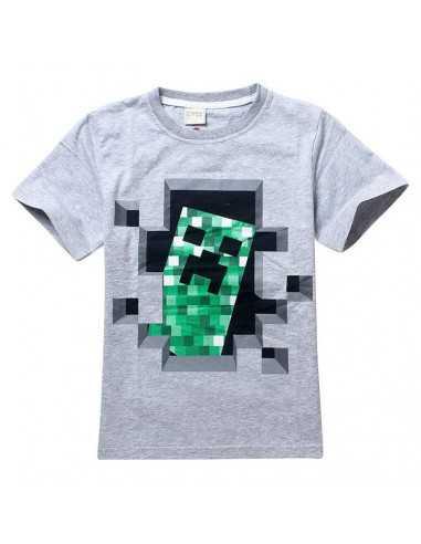 Футболка серая Minecraft Creper