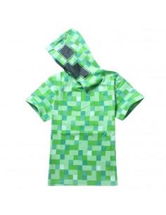 Футболка зеленая с капюшоном Майнкрафт (Minecraft)