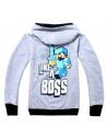 Спортивный костюм на мальчика Minecraft серый Like a Boss