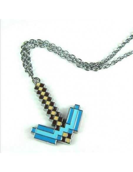Кулон Зачарованная Алмазная кирка Minecraft