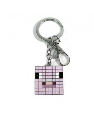 Брелок Розовая свинья Minecraft