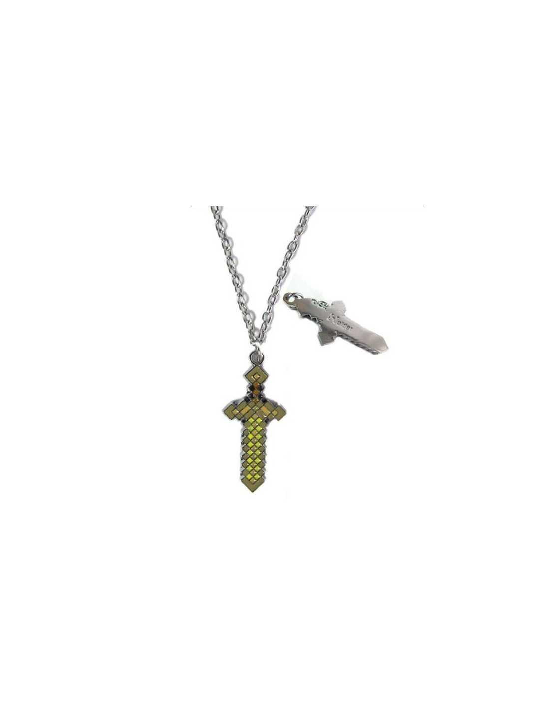 Кулон Золотой меч Minecraft